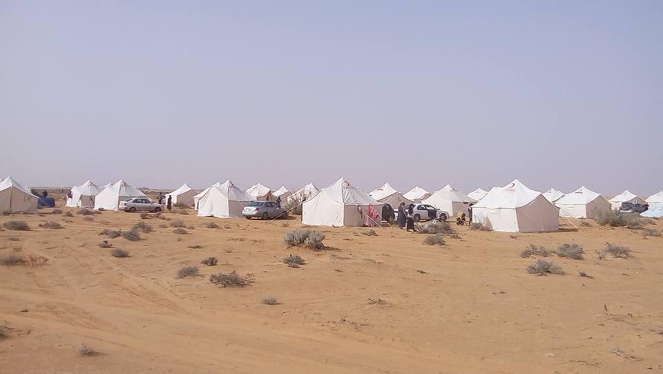 Camp created by Thawragha IDPs in Qararat al-Qatf